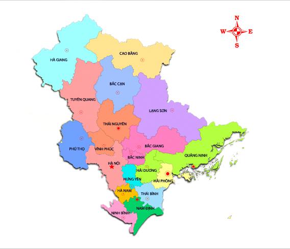 Danh sách 63 tỉnh thành Việt Nam Đông Bắc Bộ
