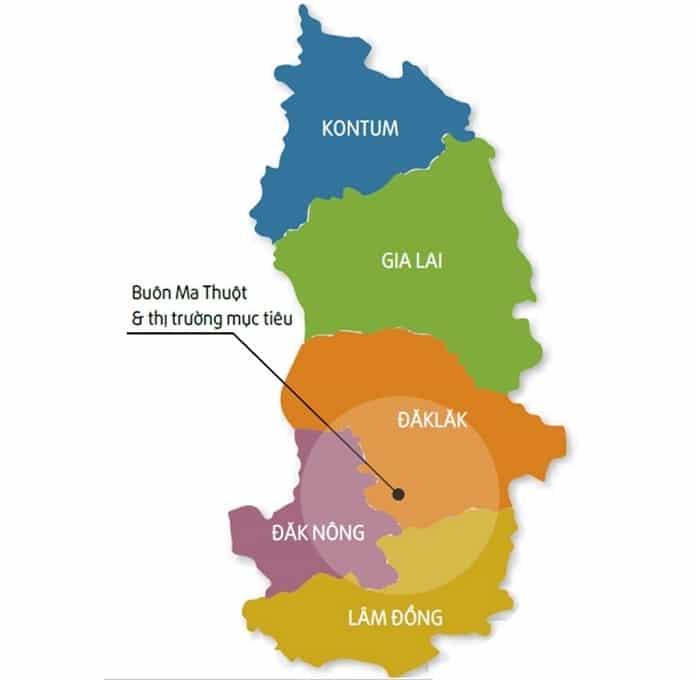 Danh sách 63 tỉnh thành Việt Nam Tây Nguyên